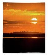 Dark Sunrise  Fleece Blanket