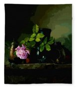 Dark Vases Fleece Blanket