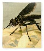 Dark Winged Comb Footed Fly Fleece Blanket
