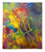 Darling Dragonfly Fleece Blanket