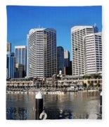 Darling Harbour Sydney Australia Fleece Blanket