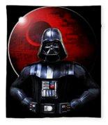Darth Vader And Death Star Fleece Blanket