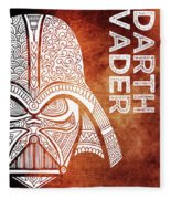 Darth Vader - Star Wars Art - Brown And White Fleece Blanket