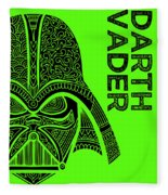 Darth Vader - Star Wars Art - Green Fleece Blanket
