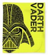 Darth Vader - Star Wars Art - Yellow Fleece Blanket