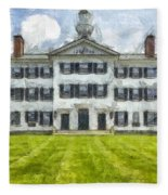 Dartmouth College Hanover New Hampshire Pencil Fleece Blanket