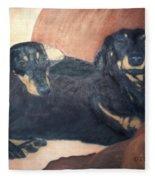 Daschounds Fleece Blanket