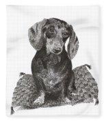 Dashound Pride Fleece Blanket