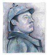 Data As Sherlock Holmes Fleece Blanket