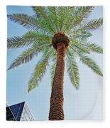 Date Palm In The City Fleece Blanket