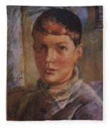 Daughter Of The Artist 1933 Kuzma Sergeevich Petrov-vodkin Fleece Blanket