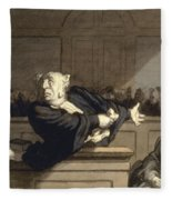 Daumier: Advocate, 1860 Fleece Blanket