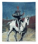 Daumier: Quixote, 19th C Fleece Blanket