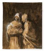 Daumier: Virgin & Child Fleece Blanket