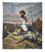 David And Goliath Fleece Blanket