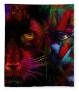 David Bowie - Cat People  Fleece Blanket