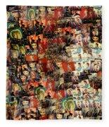 David Bowie Collage Mosaic Fleece Blanket
