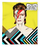 David Bowie Pop Art Fleece Blanket
