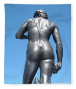 David Buttocks Fleece Blanket
