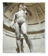 David By Michelangelo Pencil Fleece Blanket