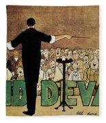 David Devant Poster C1910 Fleece Blanket