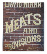 David Mann - Meats And Provisions Fleece Blanket
