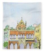 David Sasson Library Mumbai Fleece Blanket