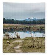 Davis Creek And Maiden Peak Fleece Blanket