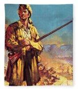 Davy Crockett  Hero Of The Alamo Fleece Blanket