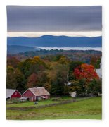 dawn arrives at sleepy Peacham Vermont Fleece Blanket