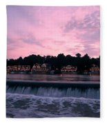 Dawn At Boathouse Row Fleece Blanket