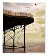 Dawn At Colwyn Bay Victoria Pier Conwy North Wales Uk  Fleece Blanket