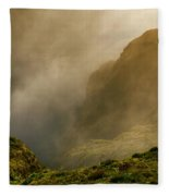 Dawn At Fogo Crater Fleece Blanket