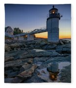 Dawn At Marshall Point Fleece Blanket