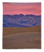 Dawn At Mesquite Flat #3 - Death Valley Fleece Blanket