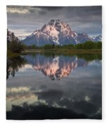 Dawn At Oxbow Bend Fleece Blanket