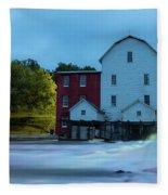 Dawn At Phelps Mill Fleece Blanket