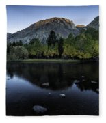 Dawn At Rush Creek 2 Fleece Blanket