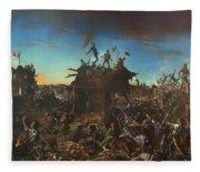 Dawn At The Alamo Fleece Blanket