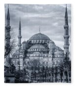 Dawn At The Blue Mosque Fleece Blanket
