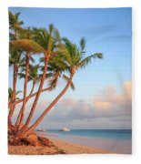 Dawn In Punta Cana Fleece Blanket