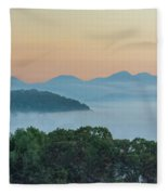 Dawn In The Smokies Fleece Blanket