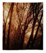 Dawn In The Trees Fleece Blanket