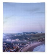Dawn Of Etretat Fleece Blanket