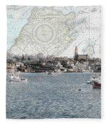 Dawn On Marblehead Harbor Fleece Blanket