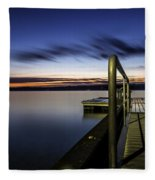 Dawn On Skaneateles Lake Fleece Blanket