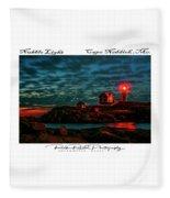 Dawn On The Rocks Fleece Blanket
