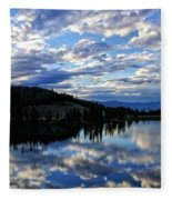 Dawn Over Big Sky Fleece Blanket