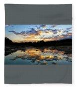 Dawn Over Boerne Creek Fleece Blanket