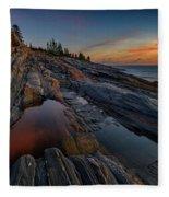 Dawn Over Pemaquid Point Fleece Blanket